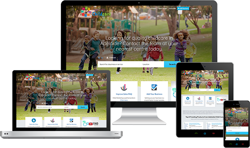 Adelaide Child Care displayed beautifully on multiple devices